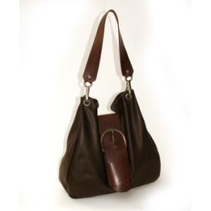 Dean Big Buckle Handbag (Chocolate)