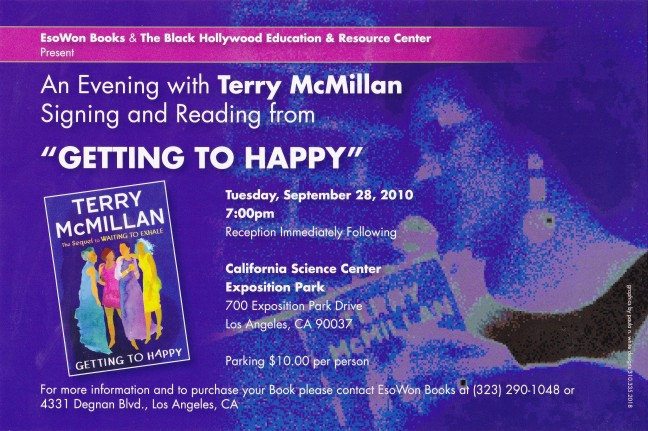 Terry McMillan Book Signing/Reading