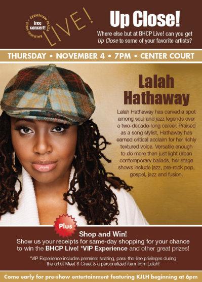 Lalah Hathaway Baldwin Hills Crenshaw Plaza